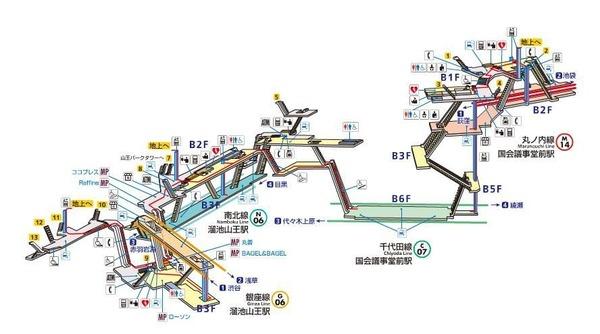 Lv.43 溜池山王駅⇔国会議事堂前駅
